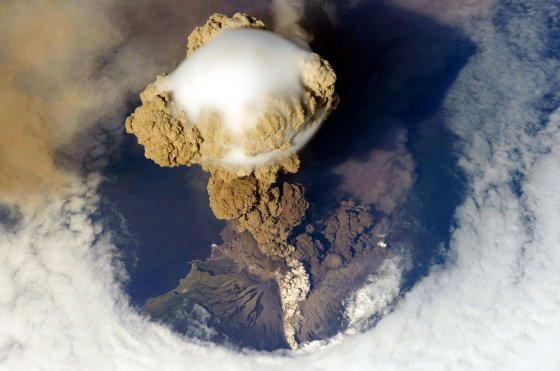 Sarychev Peak Volcano erupts on Matua Island